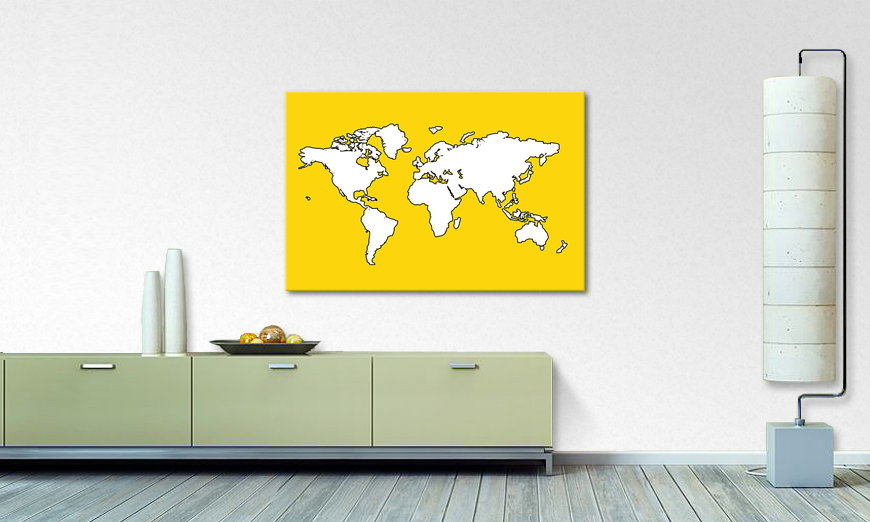 Map of the World Obraz