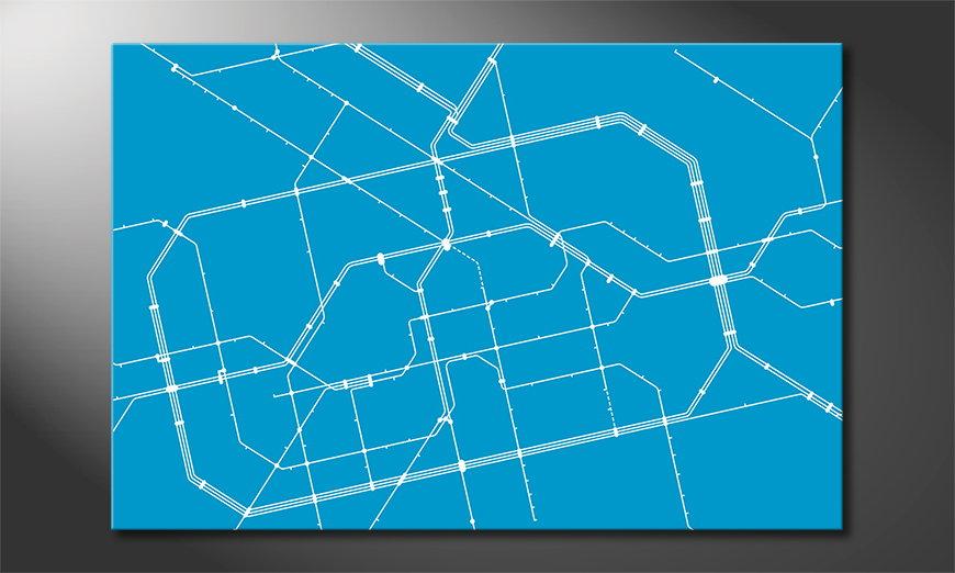 Metro Berlin Obraz