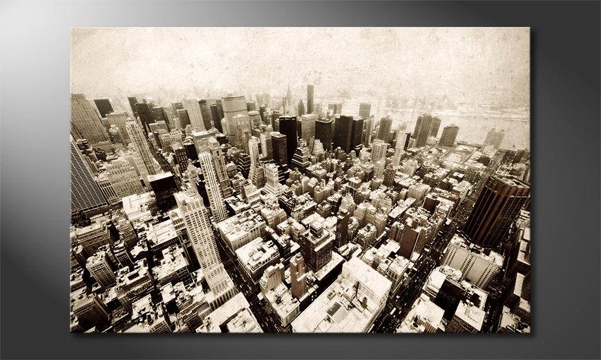 New York Vintage Obraz