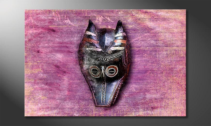 Nowoczesne obraz Afro Mask