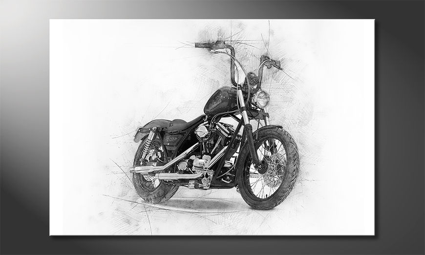 Nowoczesne płótnie Classic Motorcycle