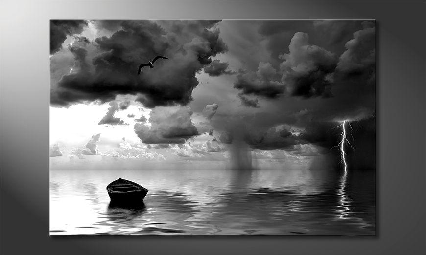 Nowoczesne płótnie Lonely Boat