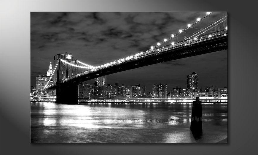 Nowoczesne p?ótnie Brooklyn Bridge