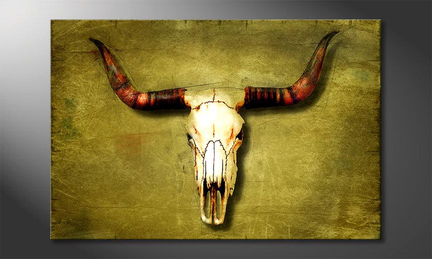 Nowoczesne p?ótnie Buffalo Bull