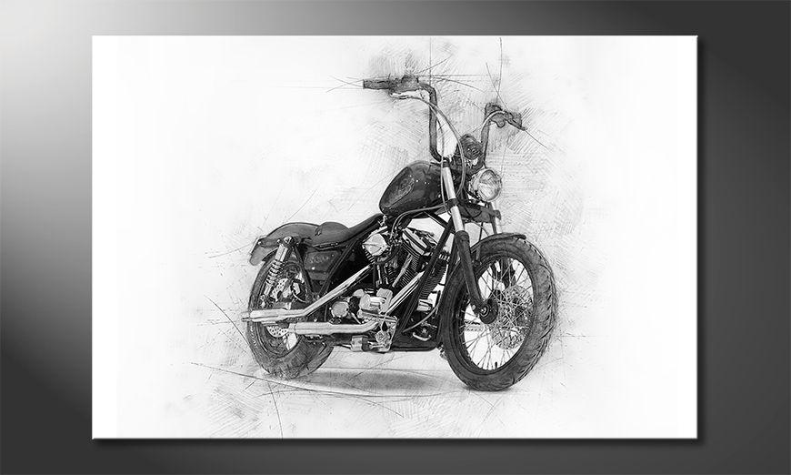 Nowoczesne p?ótnie Classic Motorcycle