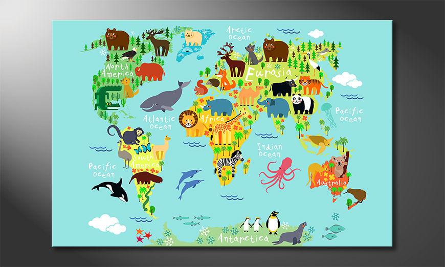 Nowoczesne p?ótnie Colorful World