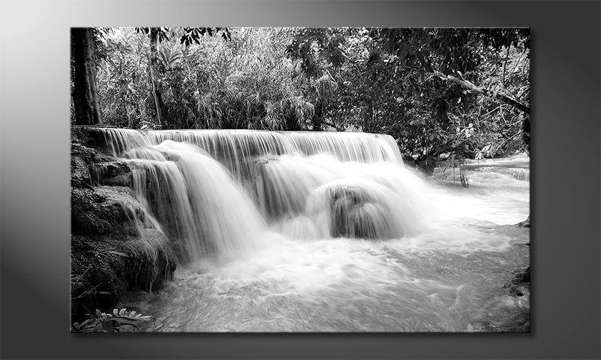 Nowoczesne p?ótnie Waterfall In Jungle
