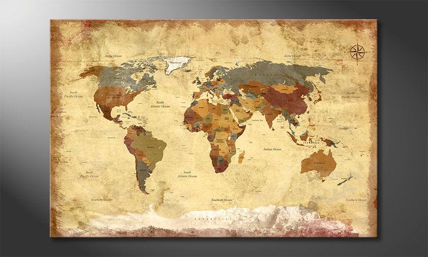 Old Worldmap 4 Obraz