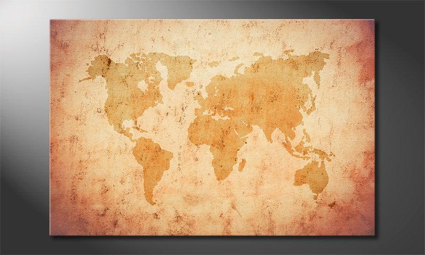 Old Worldmap Obraz