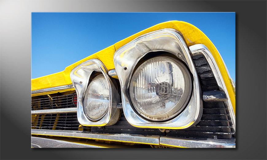 Oldtimer Headlights Obraz