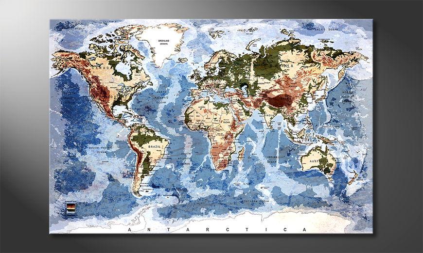 Oldworldmap Obraz