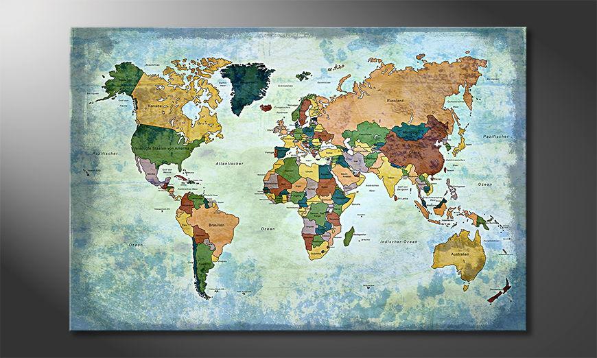 Oldworldmap one Obraz