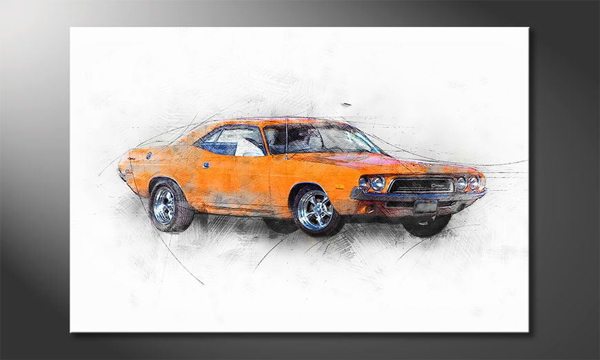 Orange Muscle Car Obraz