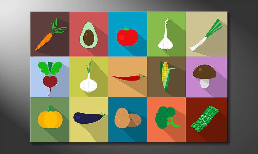 Piękny wydruk Funny Vegetables