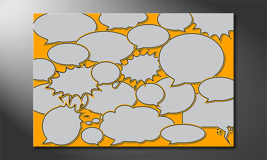 Speech-Bubbles-Obraz