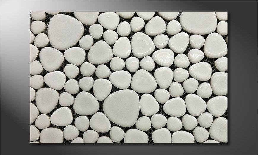 Stones Mosaic Obraz
