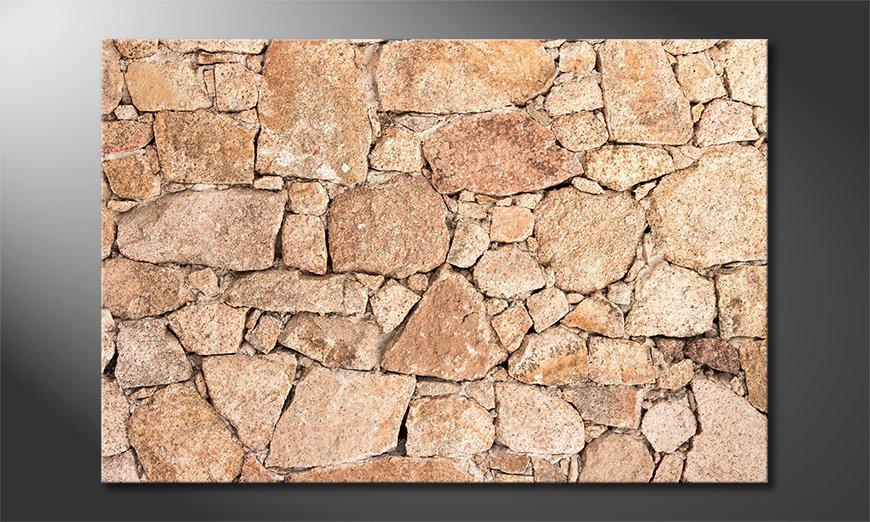 Wall of Stones Obraz
