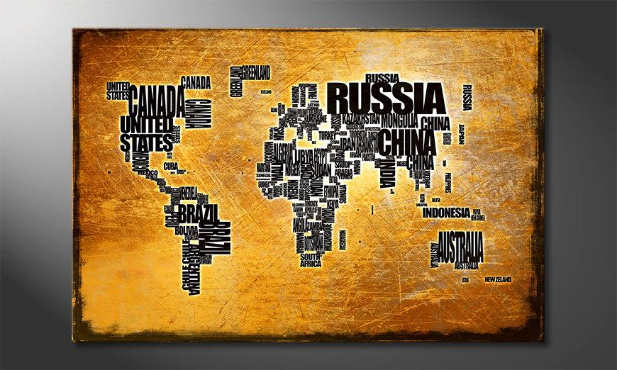Wereldkaart 6 Obraz