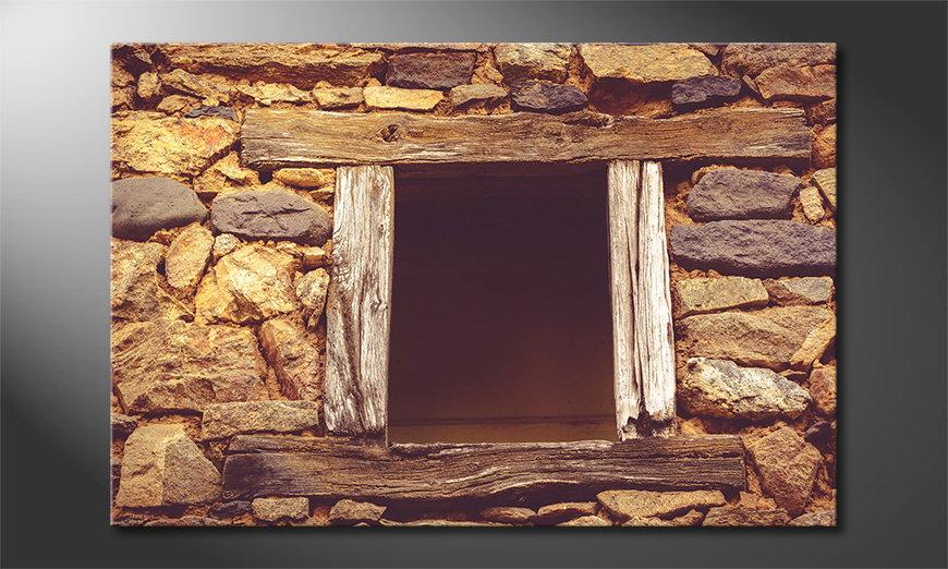 Wooden Window Obraz