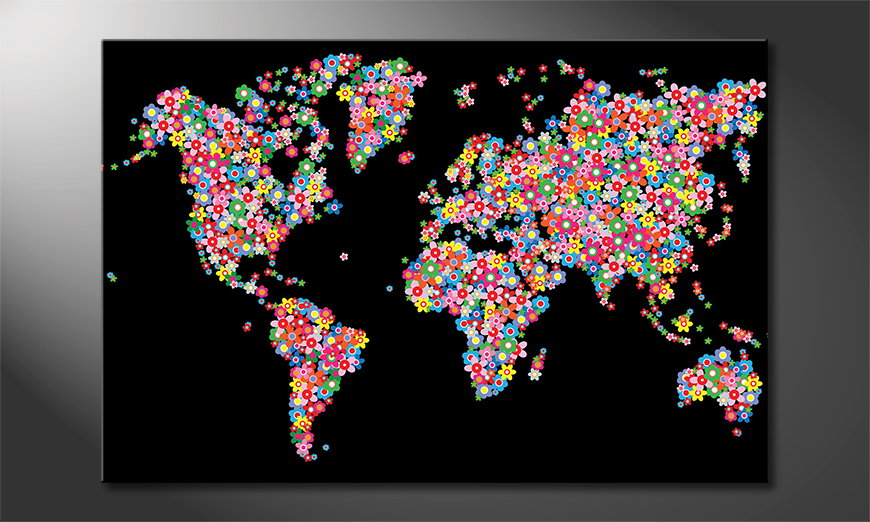 World Flowers Obraz