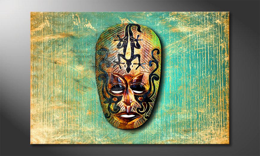 Wydrukowany obraz African Signs