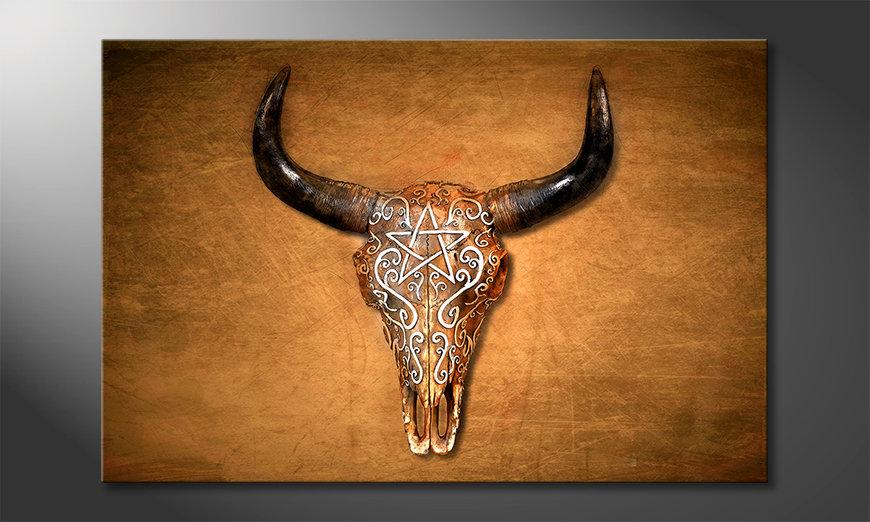 Wydrukowany obraz Bison Skull