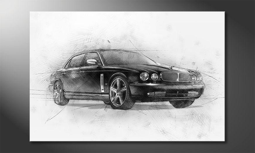 Wydrukowany obraz Black Jag