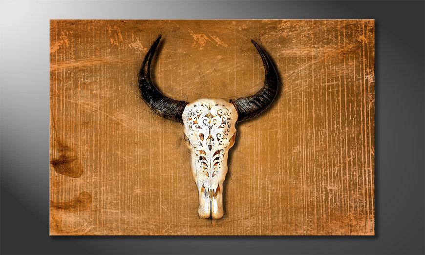 Wydrukowany obraz Buffalo Head