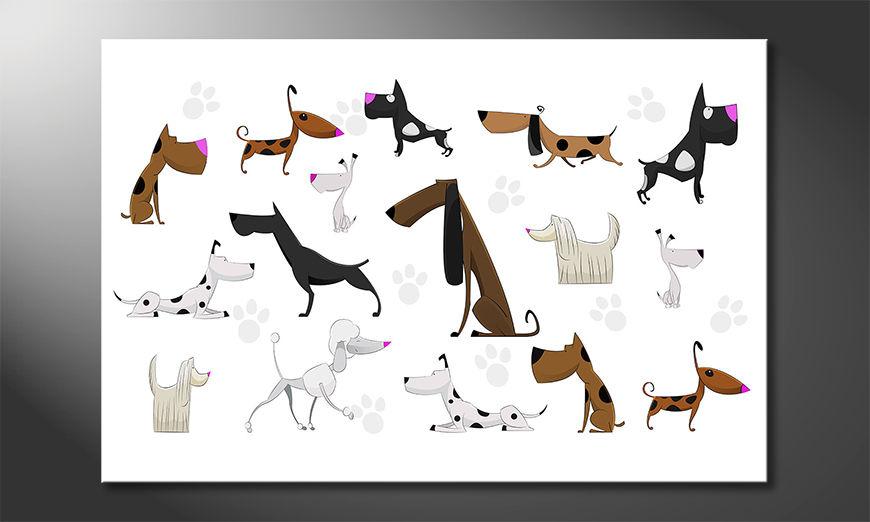 Wydrukowany obraz Cartoon Dogs