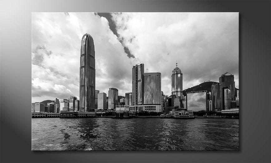 Wydrukowany obraz Hongkong Skyline