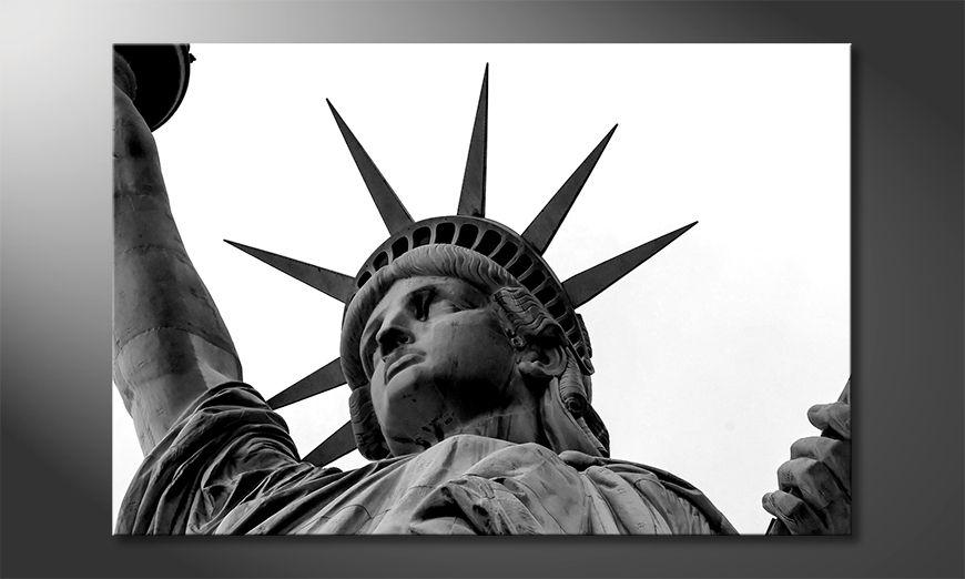 Wydrukowany obraz Liberty