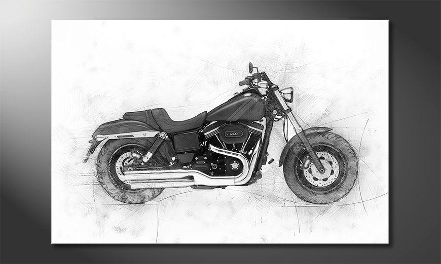 Wydrukowany obraz Motorbike Uno