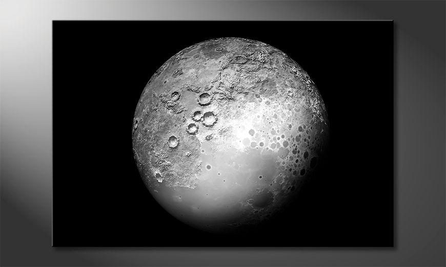 Wydrukowany obraz The Moon