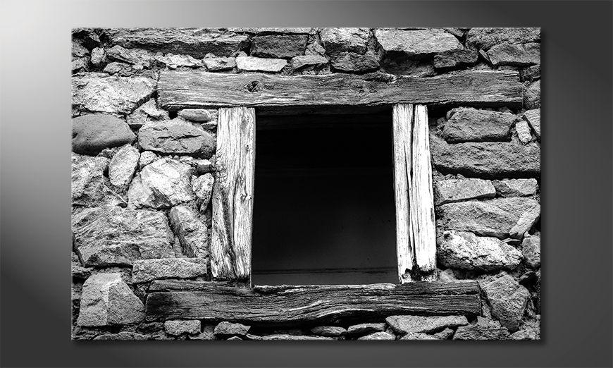 Wydrukowany obraz Wooden Windows