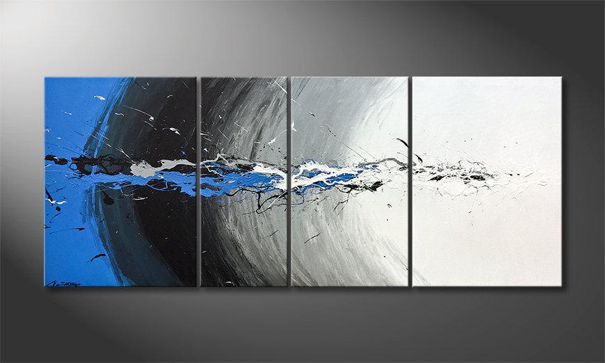 Ładne malowanie Blue Light Splash 170x70x2cm