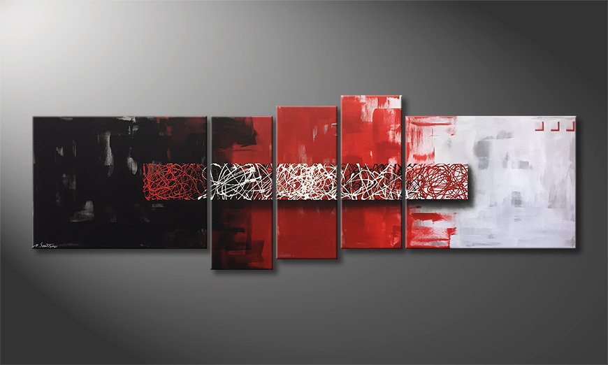 Ładne malowanie Contrast Lines 210x80x2cm