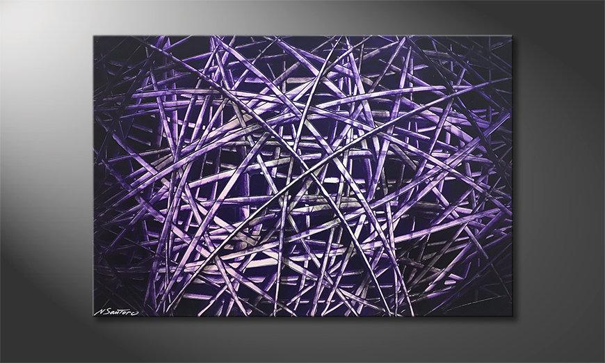 Ładne malowanie Purple Lines 120x80x2cm