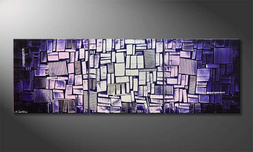 Ładne malowanie Purple Moon 210x70x2cm