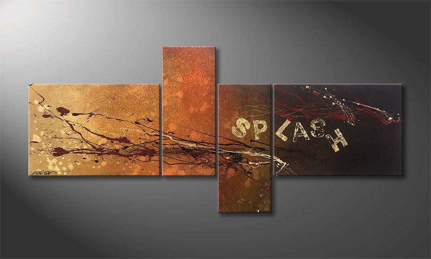 Ładne malowanie Splash 200x90x2cm