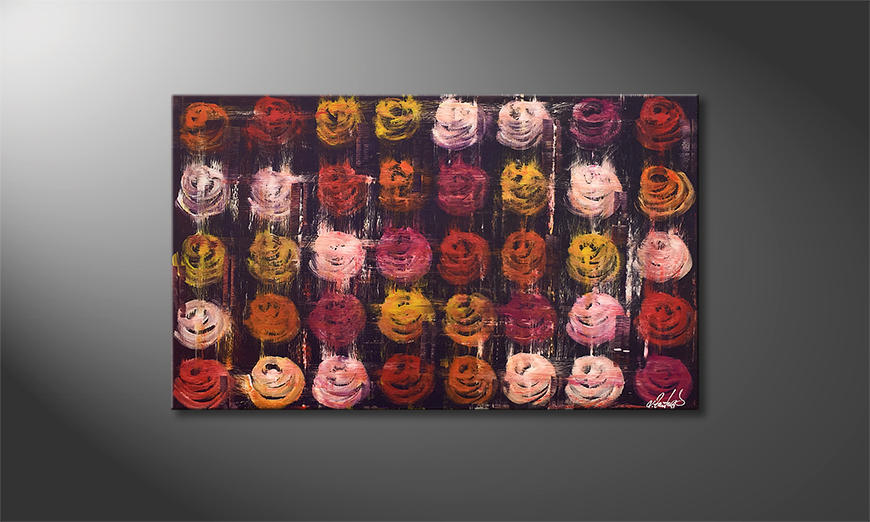 Ładne malowanie Summer Roses 100x60x2cm