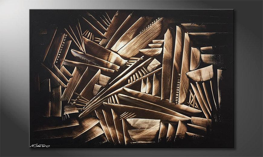Ładne malowanie Wooden Construct 120x80x2cm