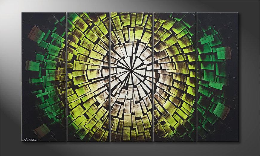 Malarstwo na płótnie Garden Of Babylon 150x90x2cm