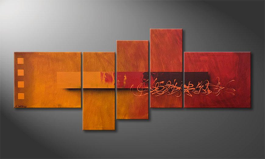 Malarstwo na płótnie Glowing Memories 210x90x2cm