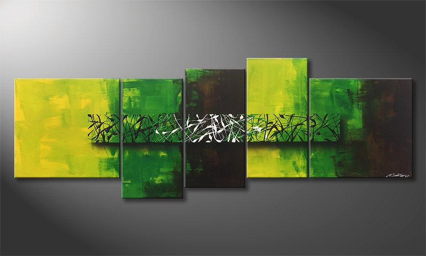 Malarstwo na płótnie Green Night 190x70x2cm