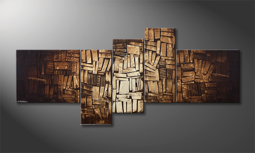 Malarstwo na płótnie Wooden Light 200x90x2cm