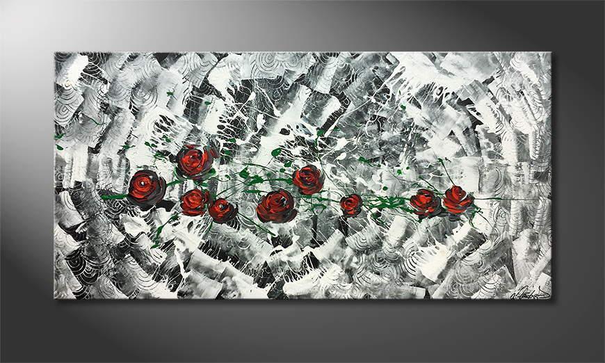 Malarstwo na p?ótnie Rose Universe 140x70x2cm