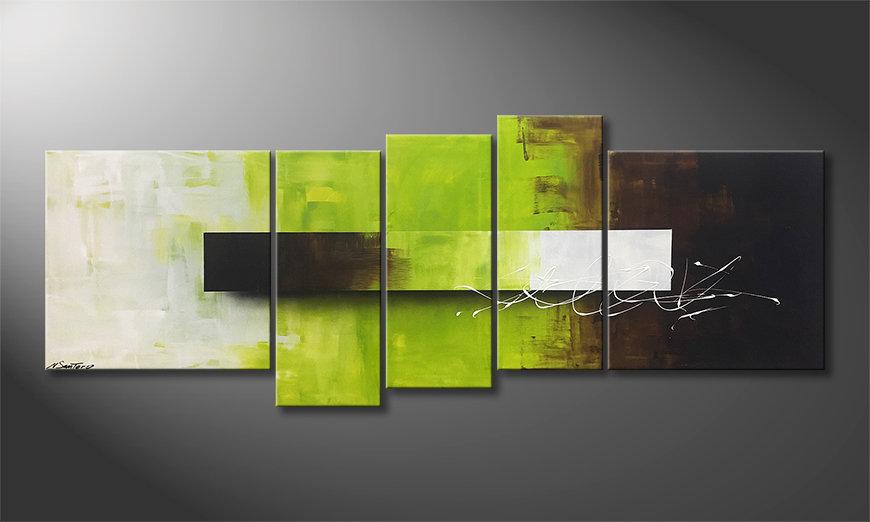Nasze malarstwo Green Day 210x80x2cm