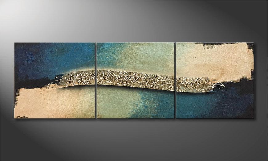 Nowoczesna sztuka Cold Wave 210x70x2cm