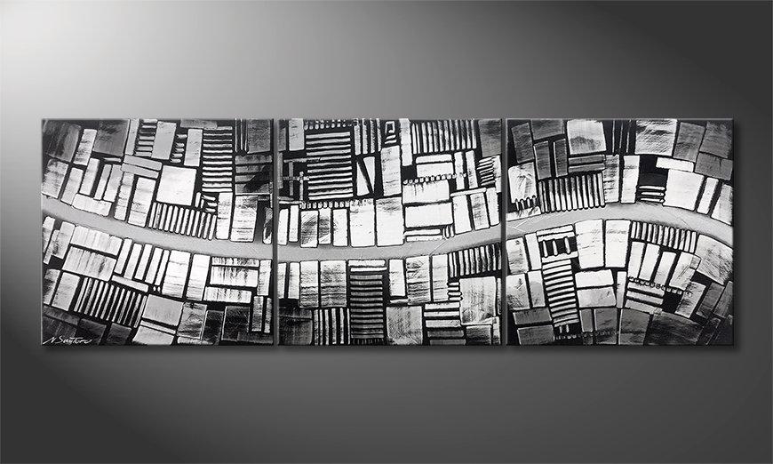 Nowoczesna sztuka Downtown 180x60x2cm