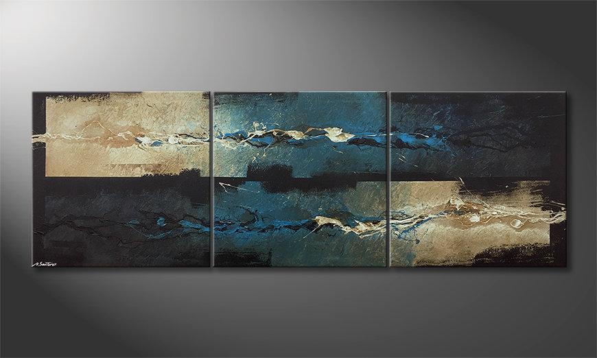 Nowoczesna sztuka Frozen Splashes 210x70x2cm